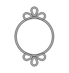 rope decor circle vector image