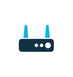 router icon colored symbol premium quality vector image