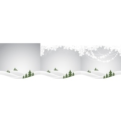 set of christmas landscapes vector image
