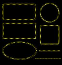 set retro frames template vector image