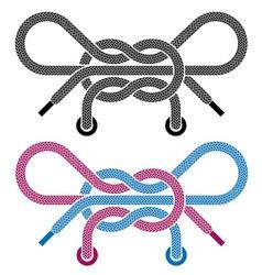 shoe lace knot symbols vector image