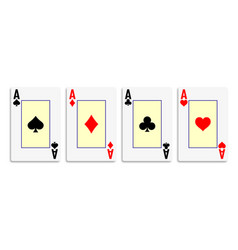 Suit deck playing cards on white background vector