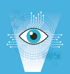 Surveillance vision technology artificial vector