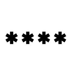 Symbol enter password vector