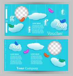template design for a gift vouchr vector image