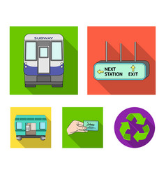 Transport public train and other web icon in vector