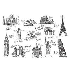 travel icon sketch vector image