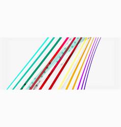 trendy color stripes lines wave great design for vector image