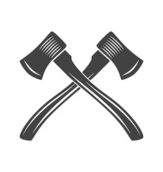 Two crossed axes with long handle Logo elements vector image