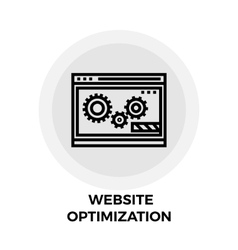 Website Optimization Line Icon vector image