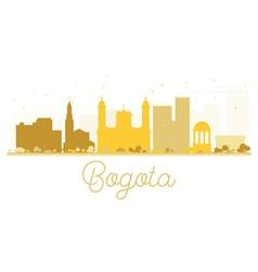 Bogota City skyline golden silhouette vector image vector image