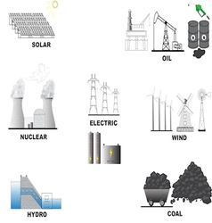 Energy sources vector image