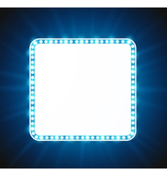 Luxurious retro blue banner vector image vector image