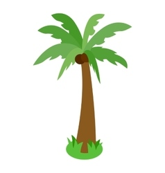Palm tree icon isometric 3d style vector image vector image