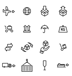 thin line icons - logistic vector image vector image