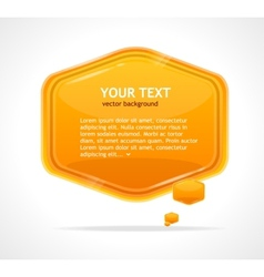Abstract speech bubble orange vector image vector image