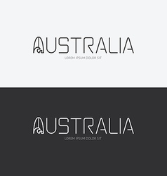 alphabet australia design concept with flat sign vector image