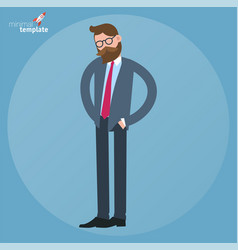 businessman looking for something in his pockets vector image