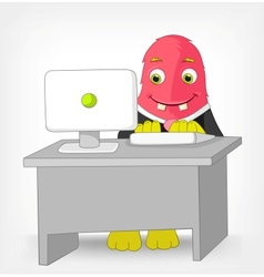 Funny Monster Clerk vector image vector image