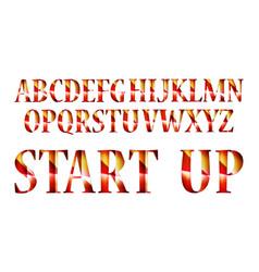 graphic retro letters set vector image vector image