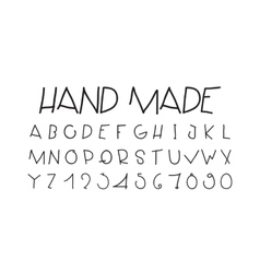 Naive sloppy handwriting decorative flashy vector image vector image
