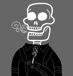dead smoker vector image
