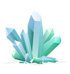 magic crystal amethyst topaz blue quartz ruby vector image