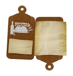 Restaurant menu template cutting boards and old vector