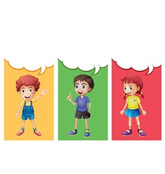 Speech bubble template with kids vector image vector image