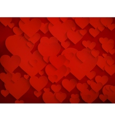 Valentines day background with hearts EPS 10 vector image vector image