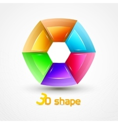 3d Shape Abstract icon vector image vector image