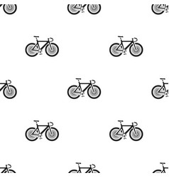 bicycle icon in black style isolated on white vector image