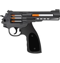 cigarettes pistol vector image vector image