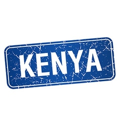 Kenya blue stamp isolated on white background vector