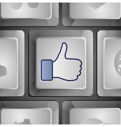 like button - social media concept vector image vector image