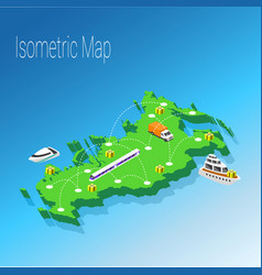 map russia isometric concept vector image vector image