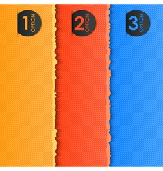 options label vector image vector image