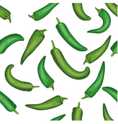 seamless chile pepper pattern tile green vector image vector image