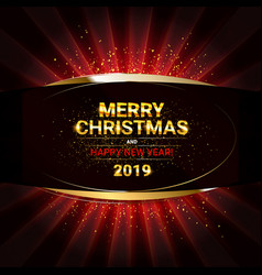 2019 golden new year sign vector image