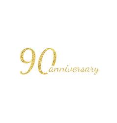 90 anniversary logo concept 90th years birthday vector image