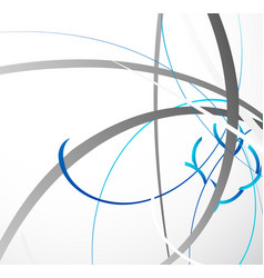 Abstract geometric with random dynamic lines vector