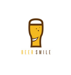 abstract icon design template smiling beer vector image