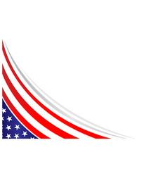 American abstract flag corner border vector