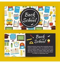 Back to school and education modern flat style vector