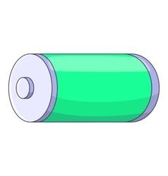 Battery icon cartoon style vector
