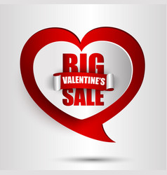 big valentines day sale background vector image