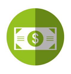 Bill money dollar icon vector