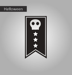 black and white style icon halloween festivity vector image