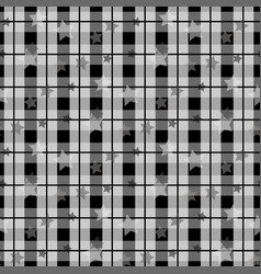 black and white tartan plaid scottish pattern with vector image