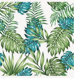 blue and green leaves seamless vector image